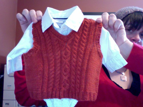Little Man Vest with Shirt