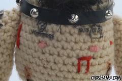 GG Allin chest closeup (Croshame) Tags: music man stain rock gg blood punk fuck crochet poop scum microphone amigurumi allin croshame