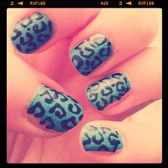 Nails - top turquoise
