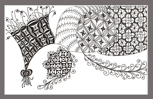 An untitled Zentangle inspired doodle