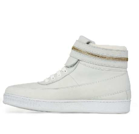 Givenchy White Zipper High Top Sneaker