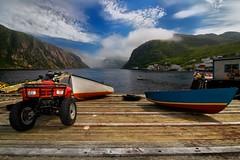 Boat ramp (Rick Gravelle) Tags: newfoundland nikond70 atv fjord nik dory fishingvillage topaz boatramp francois southcoastofnewfoundland