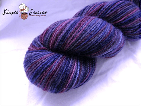 Handdyed Superwash Cash-Wool in Midnight