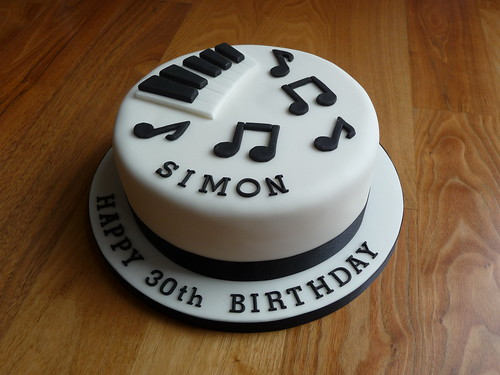 Piano themed 30th Birthday Cake
