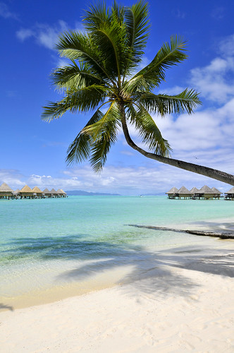 View from the beach, InterContinental Bora Bora le Moana Resort