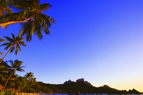 External view from the InterContinental Bora Bora le Moana Resort