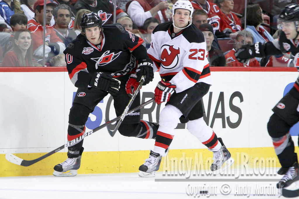February 20, 2011:  The New Jersey Devils defeated the Carolina Hurricanes 4-1 in an NHL hockey game at the RBC Center in Raleigh, NC (Andy Martin).