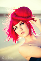 crystal. (leaves.on.the.wind) Tags: portrait backlight hair dramatic vivid striking hotpink paulmitchell canonef2470mmf28lisusm canon7d