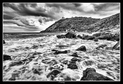 Flowing (Emanuele Barcali) Tags: sea storm castle water zeiss canon flow eos rocks nuvole silk flowing rocce castello livorno spiaggia ze temporale 1835 distagon colud quercianella scorrere rogiolo 1ds3 fluire sidneysonnino