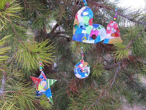 Our collage ornaments #4