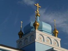 Steeple (Barefoot In Florida) Tags: crosses steeple russianorthodoxchurch kennethcityflorida