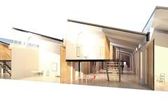 Sectional Perspective of Typical BIZ Art Studios