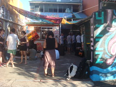 outside 4ZZZ Brisbane