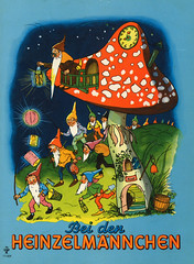 Bei den Heinzelmnnchen (micky the pixel) Tags: mushroom illustration vintage buch book dwarf kabouter livre fairytales pilz fliegenpilz mrchen zwerg wichtel heinzelmnnchen kinderbuch bilderbuch beidenheinzelmnnchen pestalozziverlag