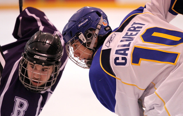 Alex Calvert faces off against the Broncos, Feb 17th, 2011
