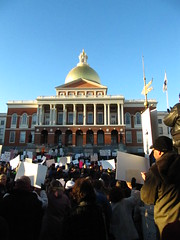 Solidarity (historygradguy (jobhunting)) Tags: people signs boston ma person massachusetts political politics union rally crowd protest newengland capitol solidarity unions mass beaconhill statehouse bostonist organizedlabor universalhub killthebill supportwisconsin