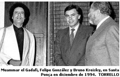 11b24 Gadafi y Felipe González