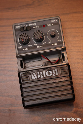 Arion SCH-1 analog delay: needed new 9V clip