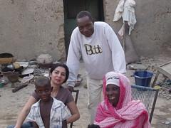 Avec Seydou, son papa, et sa maman