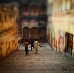 Heading Down (Asim Ijaz) Tags: stairs fort fake shift tilt lahore ts badshahi
