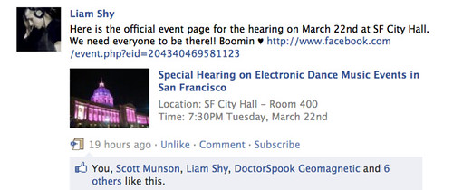 Here is the official event page for the hearing on March 22nd at SF City Hall. We need everyone to be there!! Boomin ♥
