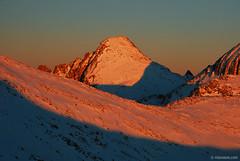 Alpenglow on Dzhangal peak (.:: Maya ::.) Tags: winter sunset mountain snow nature beauty landscape glow peak bulgaria alpen  pirin        mayaeye mayakarkalicheva    dzengala wwwmayaeyecom