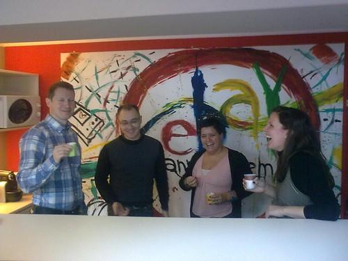 En las oficinas de eBay en Milan