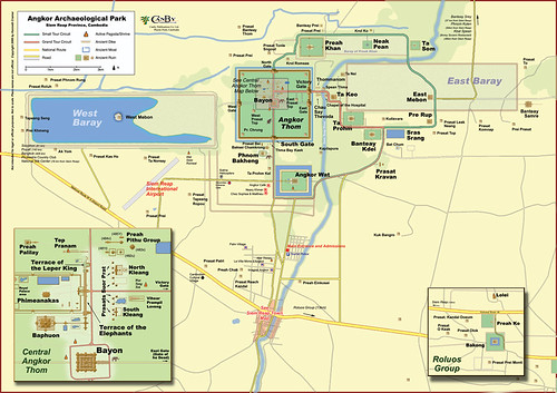 Map showing Angkor Thom