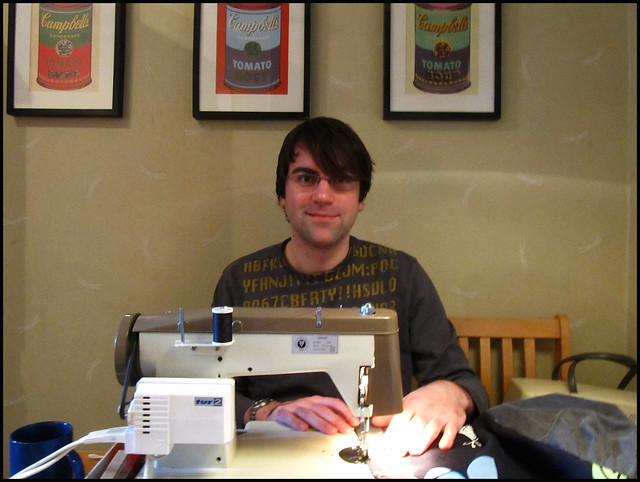 dave and his sewing machine