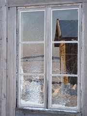 Snowy window (evisdotter) Tags: winter snow window reflections boathouse mariehamn åland platinumheartawards sjökvarteret mirrorser wiobw
