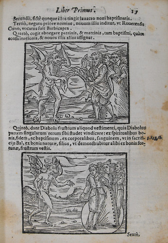 Page 15 of Compendium maleficarum, with text and woodcut illustrations