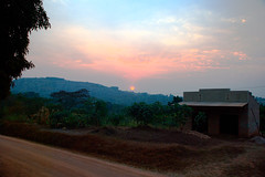 Sunset outside Mubende