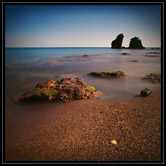 Cap d'Agde - Plage (Antony....) Tags: longexposure sea shells beach geotagged sand rocks mediterranean cap le capdagde plage zuiko languedoc dagde nd110 ndx10 1260mm olympuse30 geo:lat=43275846477883576 geo:lon=3514764473541163