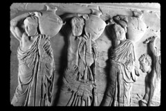 frieze of Parthenon (Csbr) Tags: bw sculpture history museum greek ancient europe december athens frieze scan parthenon relief greece classical marble acropolis copy 2010 pentelic statuaclassica