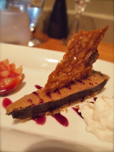 peanut butter and chocolate tarte