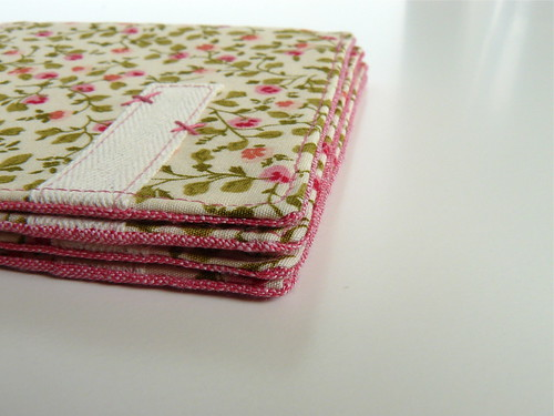 salmon pink floral coasters