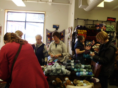 Action at Yarn Harbor -- Not Slumber Party