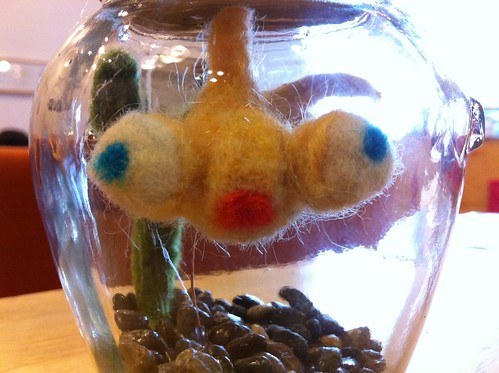 Felted goldfish! What a fun, crafty morning.
