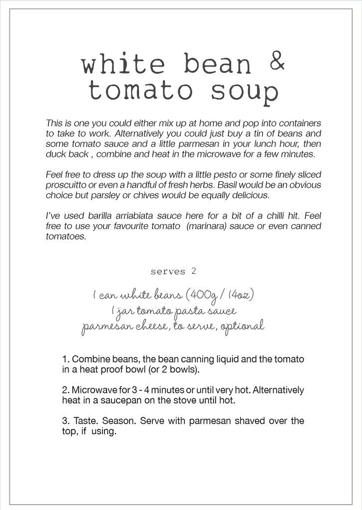 white bean & tomato soup recipe