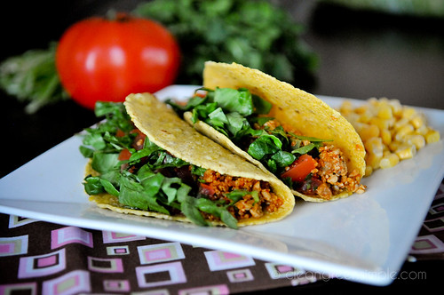 Vegan Seared Pepper Tacos With Pintos And Avocado Crema Recipe ...