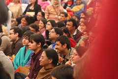 A rapt audience listens to Javed Akhtar. The festival was free and attended as enthusiastically by Jaipur residents as by New York City literati (UCL News) Tags: india film literature ucl jaipur anthropology universitycollegelondon socialhistoricalsciences dsctravelgrant