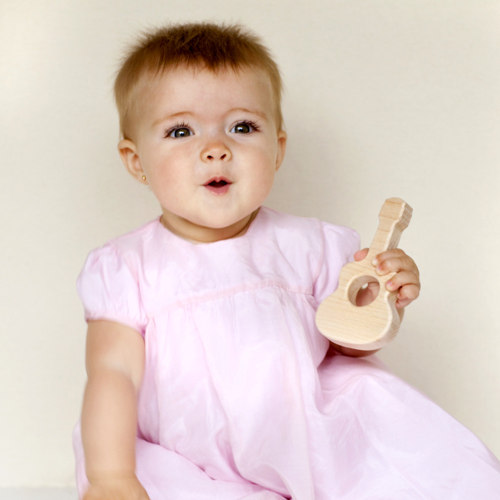 Baby with Little Guitar Teething Toy