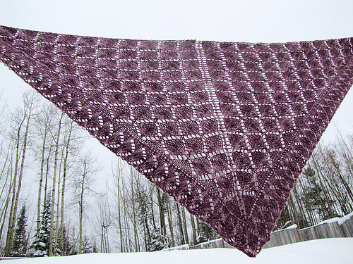 New pattern, Honey pot shawl