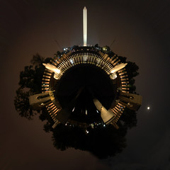 Planet Washington WWII Memorial (jankor) Tags: panorama geotagged 360 planet stitched 360 360degree littleplanet 360grad geo:lat=38889371 planetepanoramique geo:lon=77041062