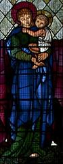Virgin Mary and child (IanAWood) Tags: london raw stainedglass williammorris putney allsaintschurch churchwindows churchofengland morrisco d3x siredwardburnejones walkingwithmynikon nikkorpce24f35 surreychurches