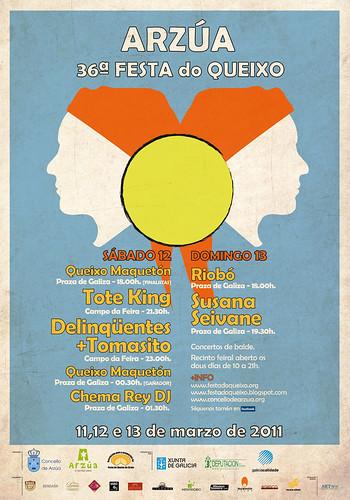 Arzúa 2011 - Feira do Queixo - cartel
