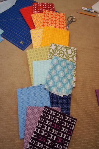 My quilt along fabrics