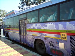 Bus without paint! (Akshay buses) Tags: india buses best maharashtra thane cerita cng kinglong borivali mulund busfanning jnnurm as700