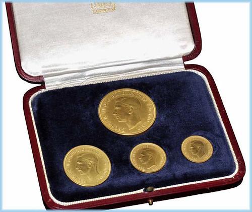 1937 George VI gold matt proof set