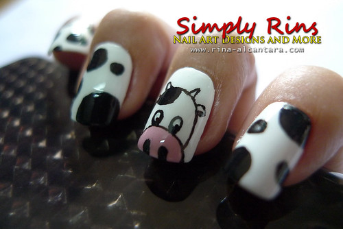 Nail Art Cow 06
